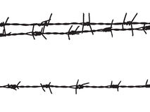 Old barbed wire on the fence Royalty Free Stock Photography