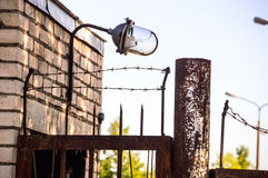 Old barbed wire, prison. Stock Photography