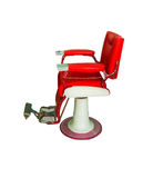 Old barber chair isolated on white background with clipping path Stock Image