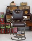 Old Barbers Chair Stock Photos