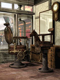 Old barber's shop Stock Images