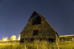 Old Barn. An old abandoned barn near the Meadow's Parking lot at the base of the Steamboat Ski Resort Royalty Free Stock Photos
