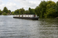 Old barge on river Thames , near Wargrave Royalty Free Stock Photography