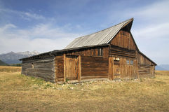 Old Barn. By the mountains royalty free stock images