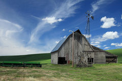 Old Barn. Located on a wheat field in the Palouse Royalty Free Stock Image