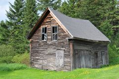 Old Barn. Dilapitated old barn by the side of the road in Pittsburgh, New Hampshire royalty free stock photos
