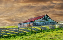 Old barn. Beautiful Image of a vintage barn in the country Stock Photo