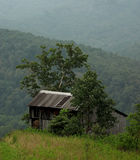 Old Barn. A barn on top of a mountain Stock Photography