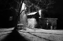 Old Barn. Father in Laws Barn at night time in rural setting Stock Image