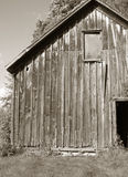Old barn. In sepia tones Royalty Free Stock Images