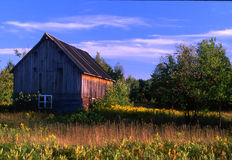 Old Barn. Michigans Upper Peninsula and this old barn are days past gone Stock Photo