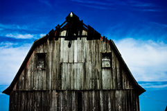 The Old Barn. Barn Aged with a great blue sky Royalty Free Stock Image
