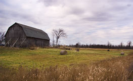 Old Barn. On Stormy Autumn Day Stock Image