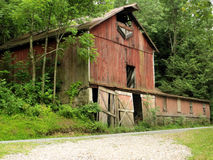 Old Barn. An old abandoned  barn in the country Stock Images