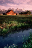 Old Barn Antelope Flats Grand Tetons Wyoming Verti Stock Images