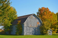 Old barn in autumn Stock Photography