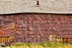 Old barn in Bodie village Stock Photography