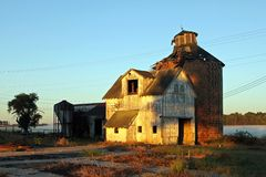 Old barn in Carmel, Indiana Stock Photos