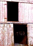 Old Barn With Character Holds Beauty in Its Scrapes and Rust royalty free stock photography