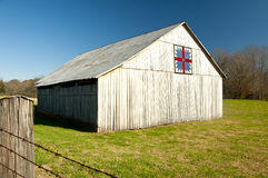 An old barn with a classic quilt block. Royalty Free Stock Images