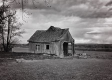 Old Barn. In the country royalty free stock image