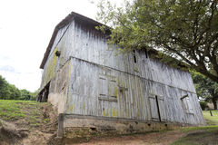Old barn on countryside of brazil Stock Image