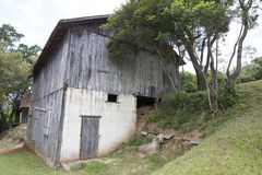 Old barn on countryside of brazil Stock Photo