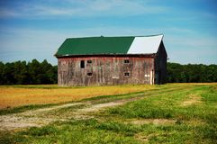 Old barn in the countryside. Scenic view of an old barn in the countryside, Cleveland, Ohio, U.S.A royalty free stock image