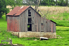 Old Barn By Decorah. An old still standing barn stock images