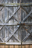 Old barn door Stock Image