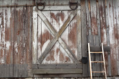 Old barn door. Pennsylvania old barn door and ladder Royalty Free Stock Images
