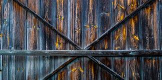 Old barn door. Photo of door to the barn Royalty Free Stock Photography