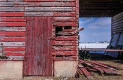 Old barn door. Royalty Free Stock Image