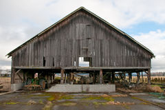 Old Barn of Edison. This midday shot of an old barn was taken in the rural town of Edison, Washington Royalty Free Stock Photography