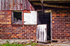 Old Barn Entrnce Royalty Free Stock Image