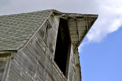 Old barn falling to ruins Royalty Free Stock Photo