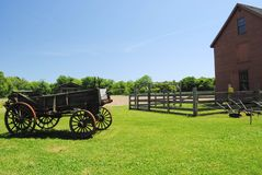 Old barn. An old barn with farm equipment from the 1800's Royalty Free Stock Photo