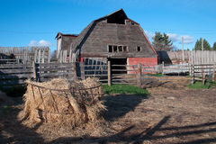Old barn and farm yard Royalty Free Stock Photo