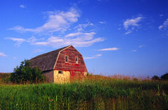 Old Barn with Farmyard. In Wisconsin royalty free stock photography