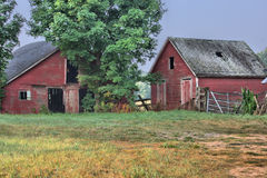 Old Barn and Fence Stock Photography