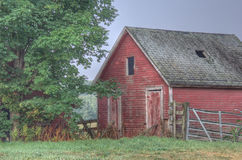 Old Barn and Fence Royalty Free Stock Images