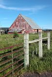 Old barn and fence, Oregon. Royalty Free Stock Image