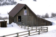 Old Barn With Fence Royalty Free Stock Images