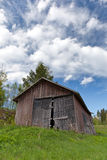 Old barn on a field Royalty Free Stock Photography