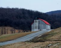 Old Barn. In the field Royalty Free Stock Images