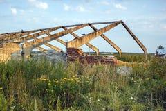 Old barn field Stock Photo