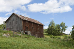 Old Barn in the Field Royalty Free Stock Image