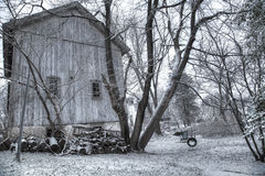 Old barn with fire wood Royalty Free Stock Image