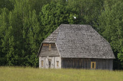 Old Barn by the forst Stock Photography