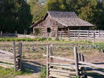 Old Barn with Garden Royalty Free Stock Photography